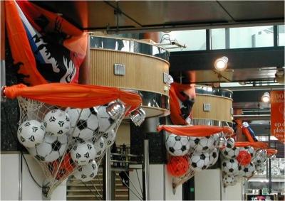 Brazilie, WK voetbal, Lek voetbaldecoraties